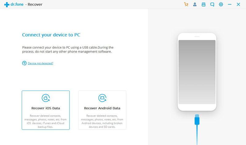 Select Recover iOS Data Box