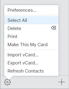 iCloud Contact Gear