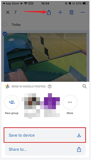 Add PC Photos to iPhone via Google Photos