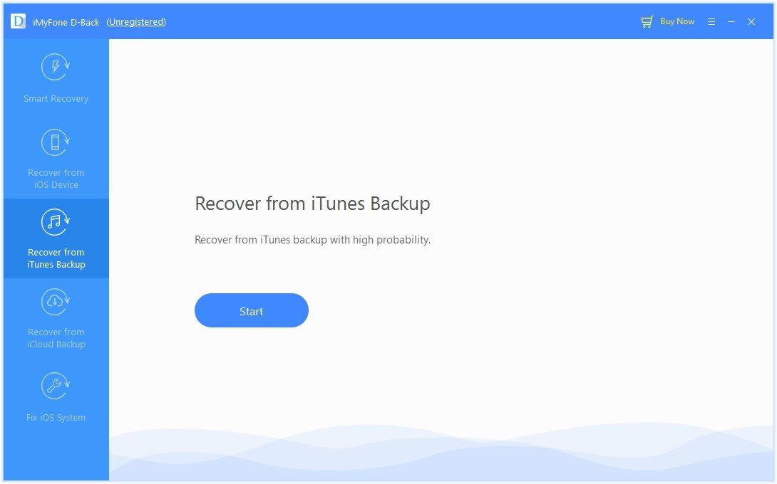 D-Back Gendan fra iTunes backup