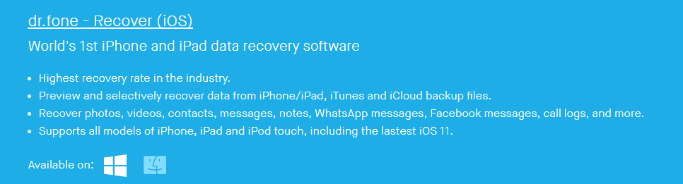 drfone ios recovery