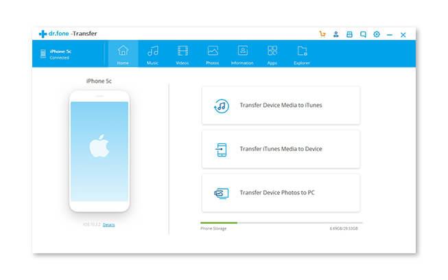 PC iPhone Transfer Screenshot