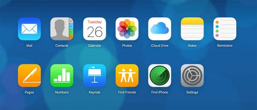 iCloud-interfacefunktioner