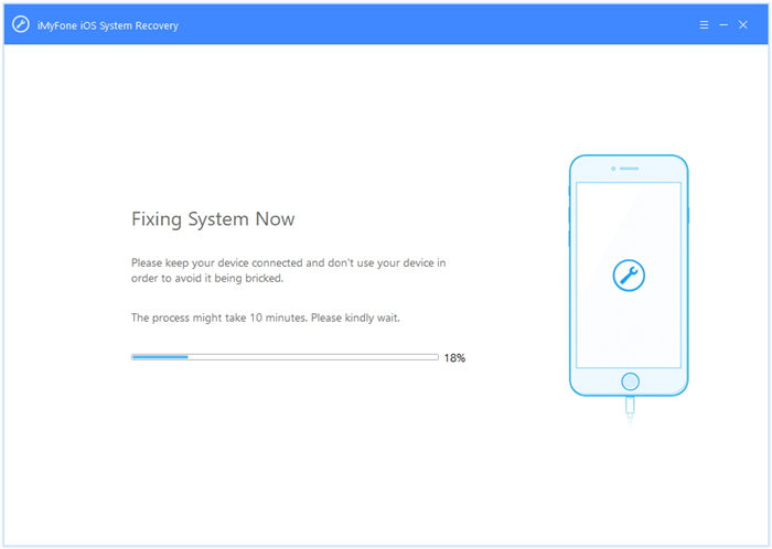 Fixing System error iMyFone iOS Ratio Recuperatio