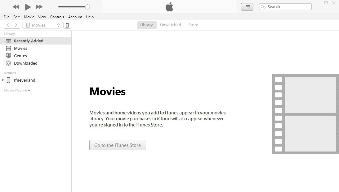 Sluit de iPhone aan en klik op iPhone iCon op iTunes