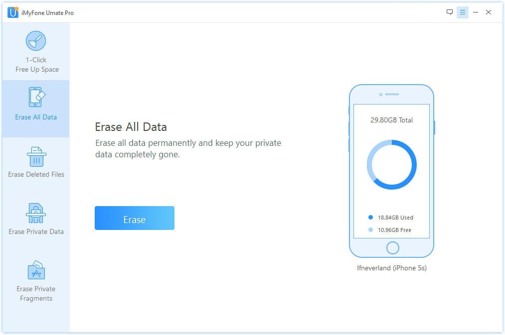 Umate Pro Erase All Data