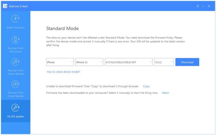 download firmware standard mode