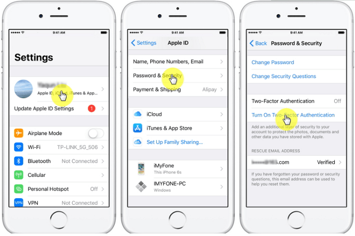 Turn On Two-Factor Authentication on iPhone