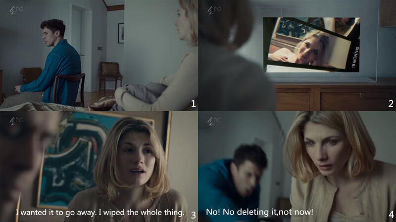 Screenshots from the Black Mirror episode 3 The Entire History of You