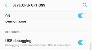 Enable USB Debugging C5