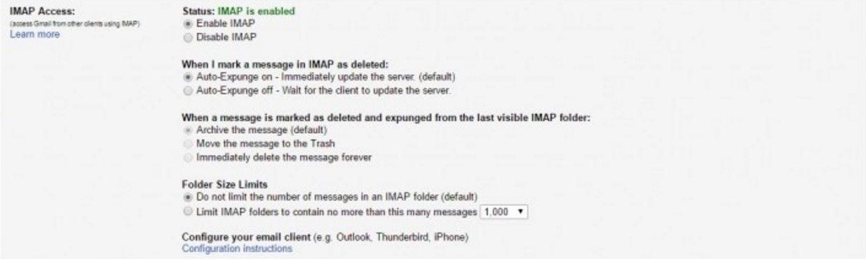 Login Gmail Settings