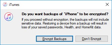 Encrypt Backups