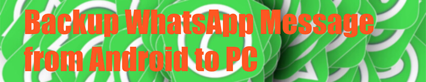 Backup WhatsApp Message from Android to PC