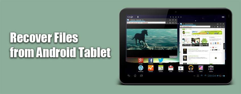 استرداد الملفات من جهاز Android اللوحي