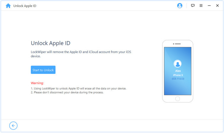 lockwiper unlock apple id
