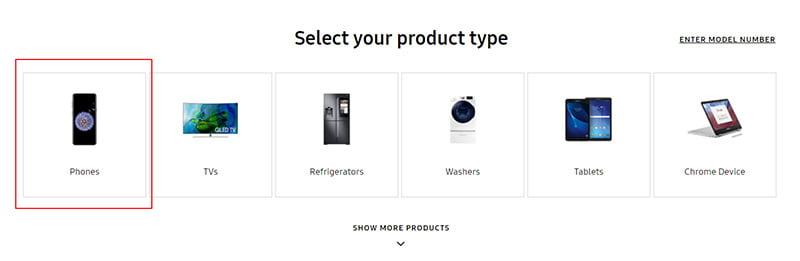 ürün tipinizi seçin