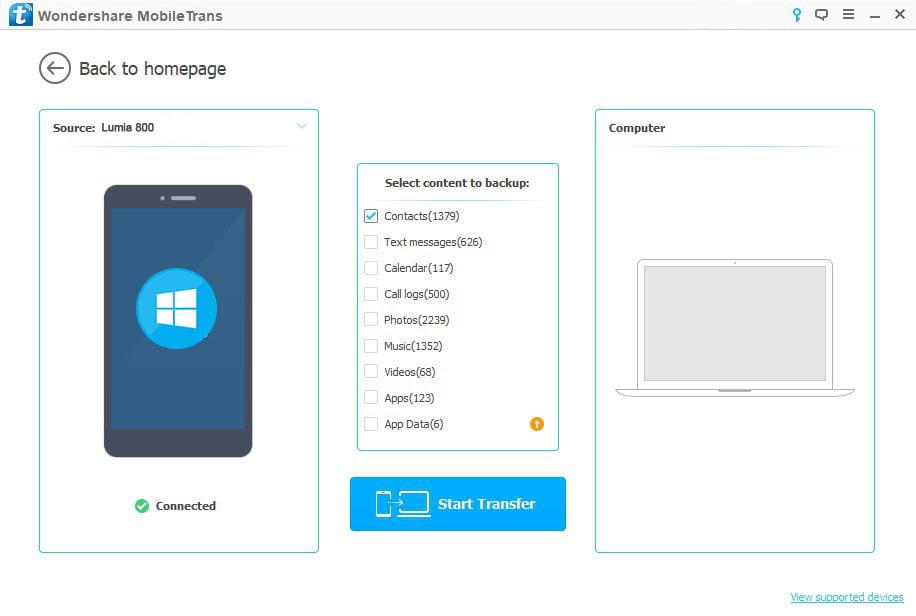Windows Phone-dan kompyuterga kontaktni eksport qilish