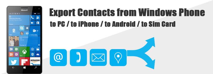 Windows Phone-dan kontaktlarni eksport qilish