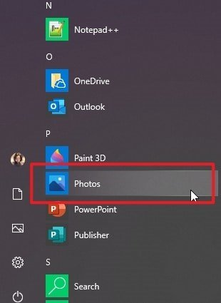 Open Windows Photos App to Transfer iPad Photos to PC without iTunes