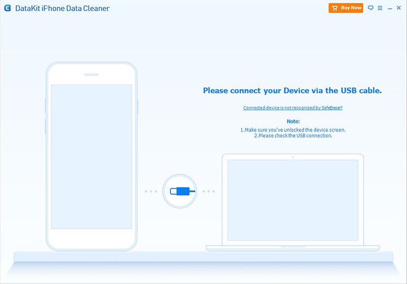 DataKit Mac iPhone Data Cleaner full screenshot