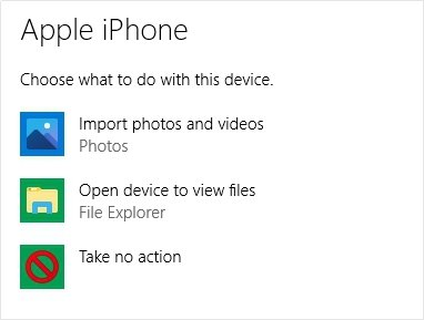 Transfer Videos from iPhone to PC through Windows AutoPlay