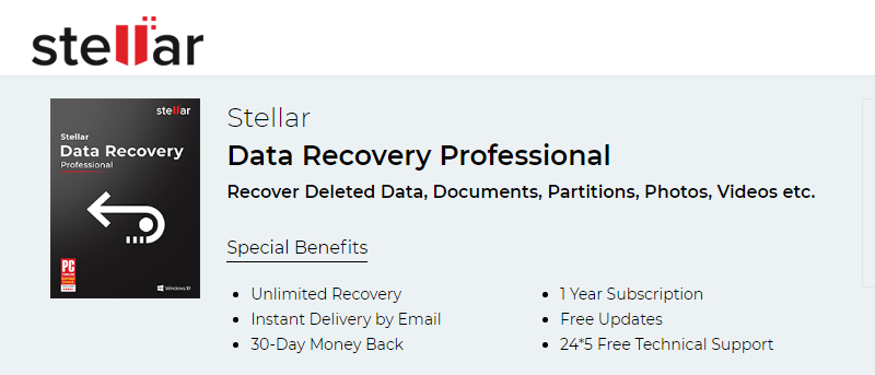 recover deleted folder with stellar data recovery