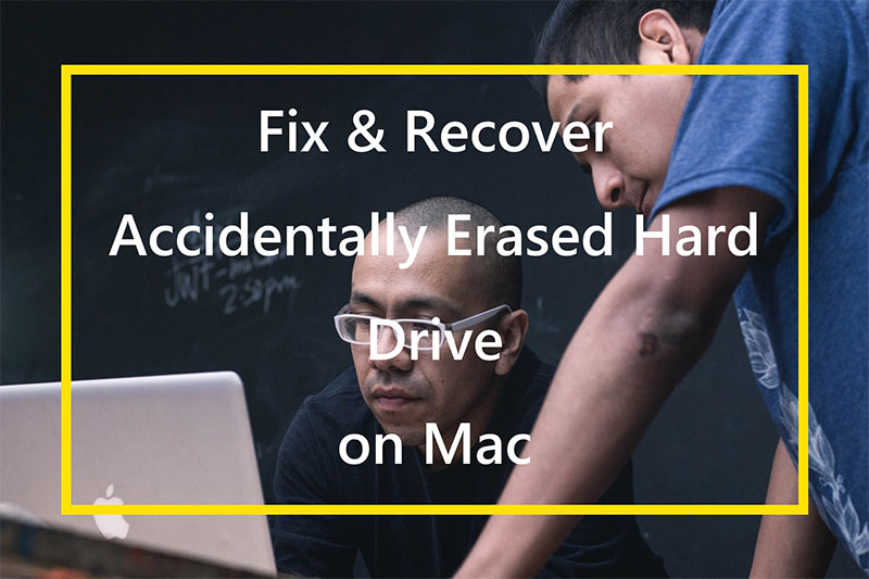 Fix and recover accidentally erased hard drive on mac