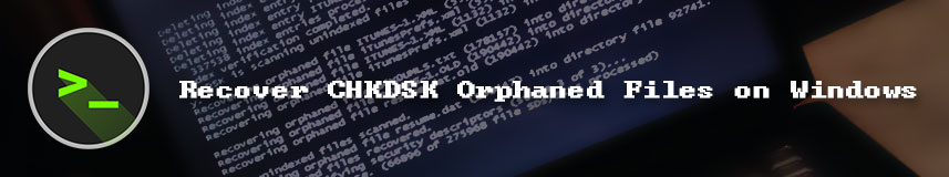 Recover CHKDSK orphaned files