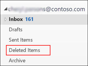 recover from deleted items