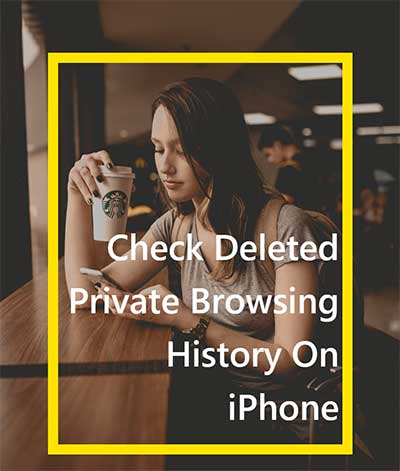 how to check history on iphone after its been deleted