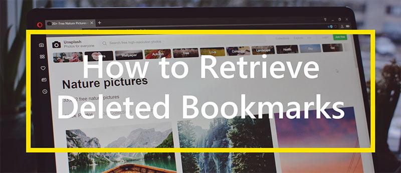 retrieve deleted bookmark