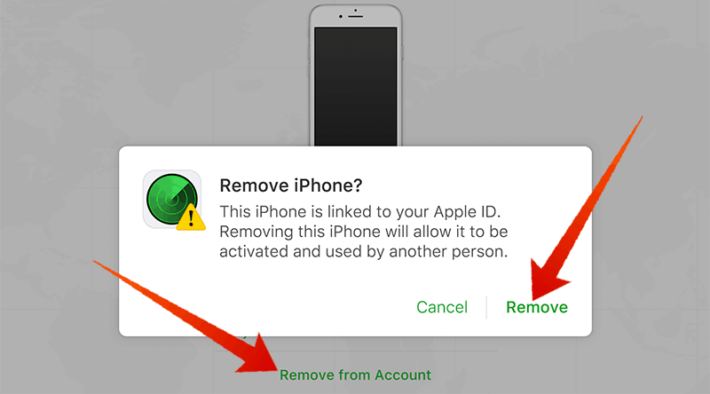 iCloud Remove iPhone From Account