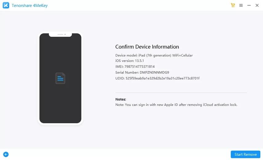 Comfirm Device Info