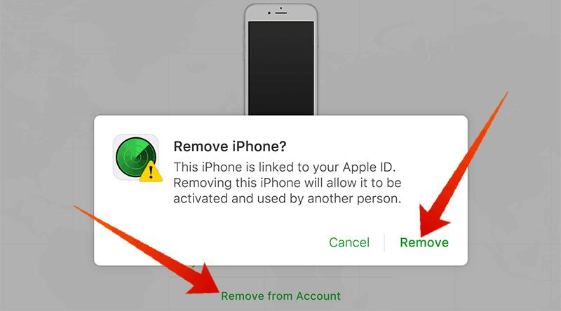 iCloud Remove From Account