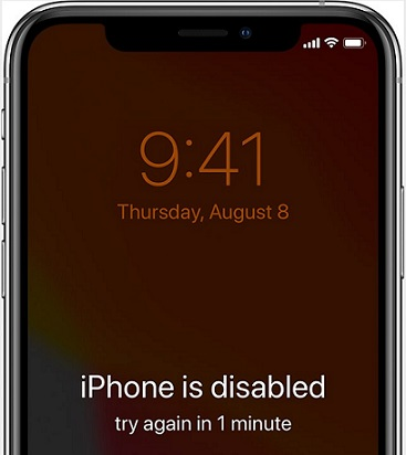 iPhone Is Disabled Try Again In 1 Min