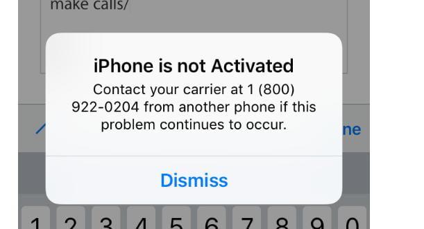 iPhone не активирован