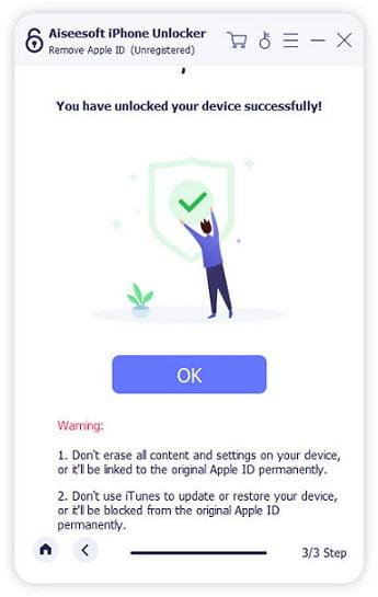 Unlocker Remove Apple ID Successfully