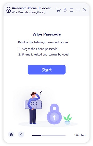 Start To Wipe Passcode