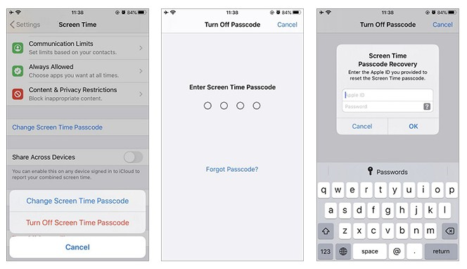 Turn Off Screen Time Passcode
