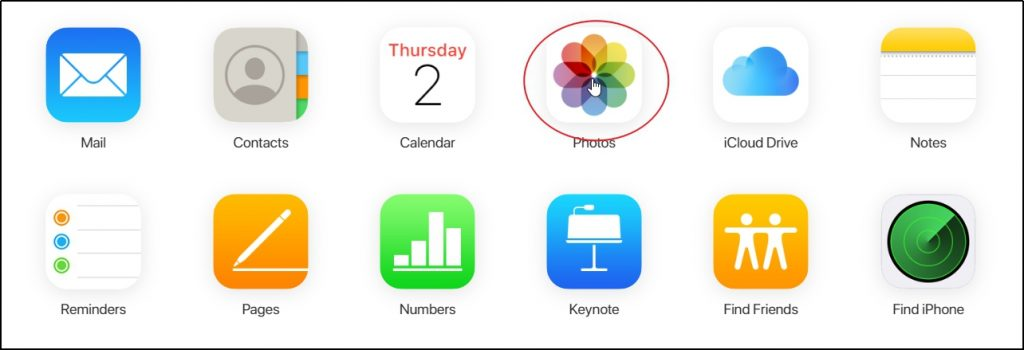 iCloud Website Icon