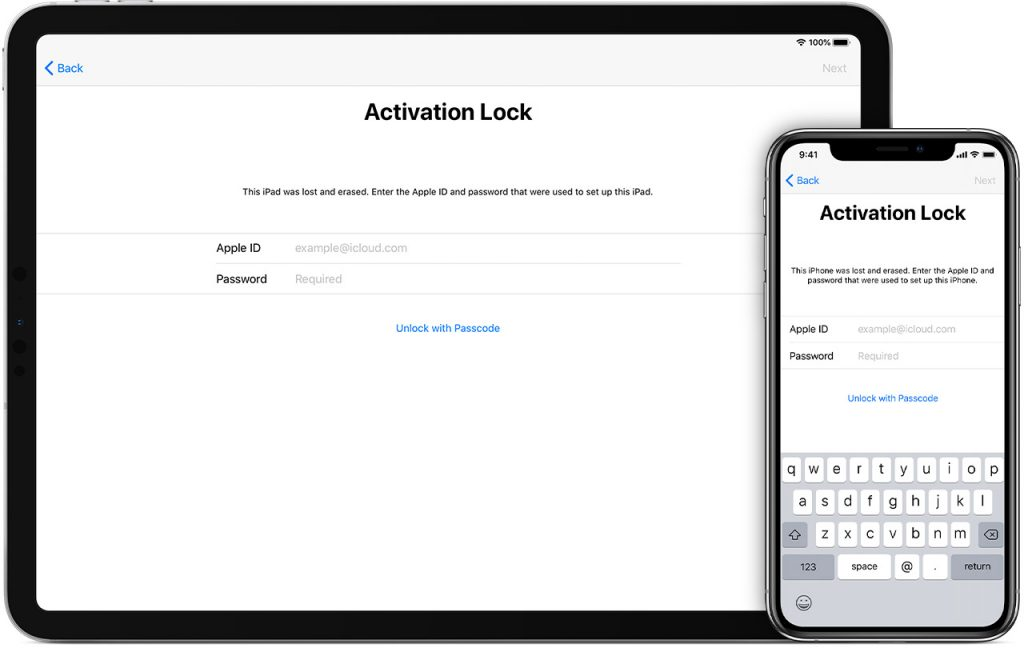iPad iPhone Activation lock Unlock With Passcode