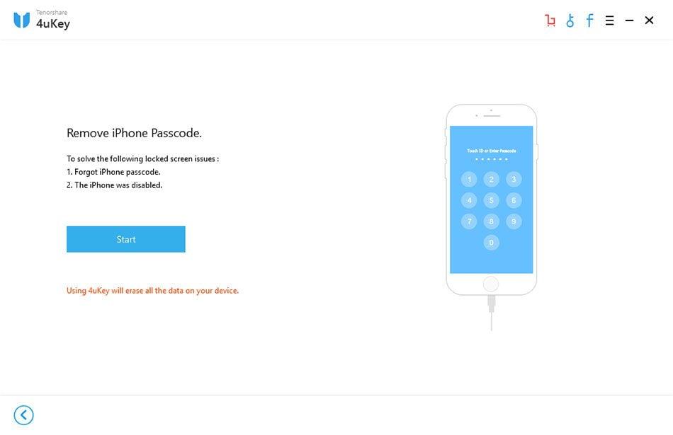 4ukey remove iphone passcode