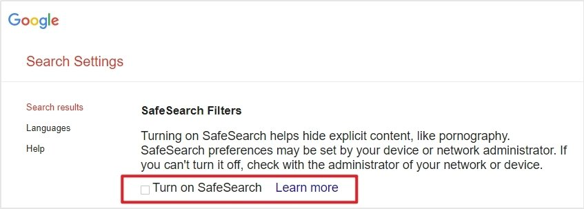 How to Block Porn on Chrome via SafeSearch