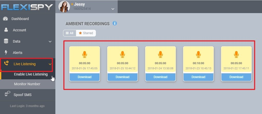 Flexispy Record Microphone Activate Remotely