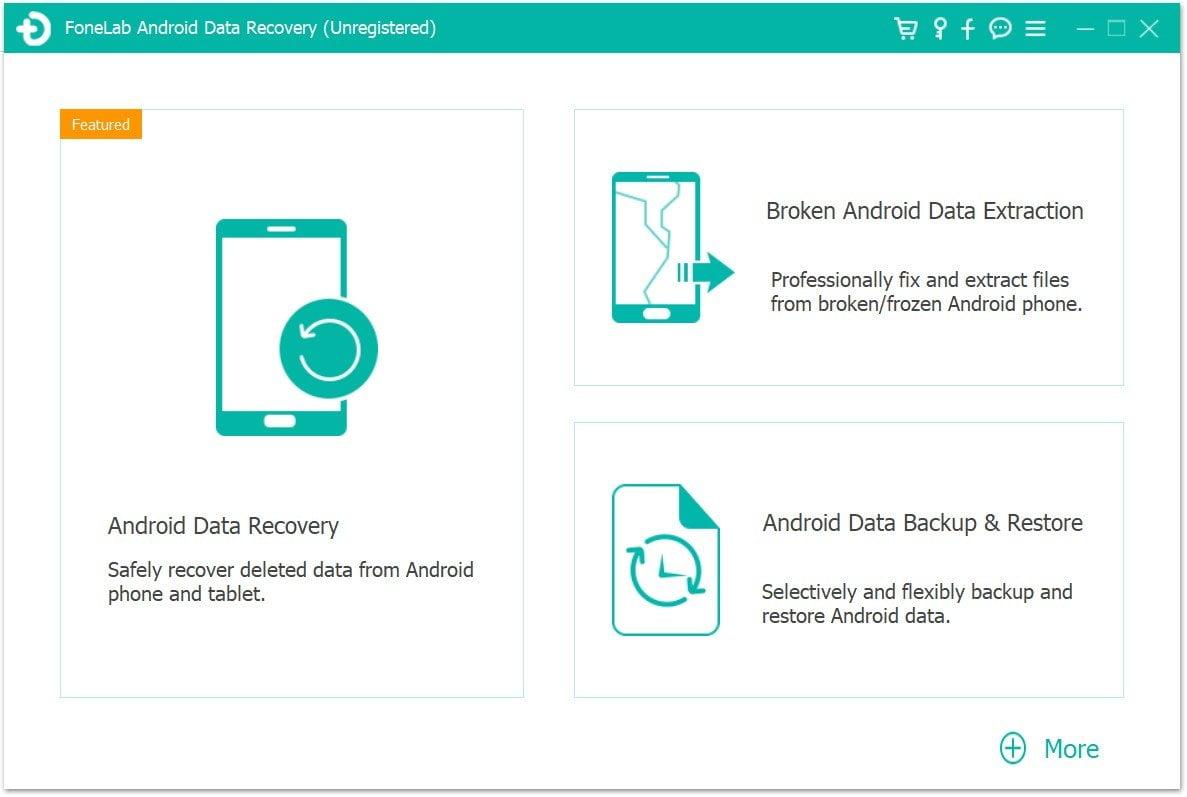 Android Zálohování a obnovení Prvním krokem odemknutí rozbité obrazovky Samsung