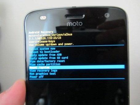 Obnovení továrního nastavení Motorola